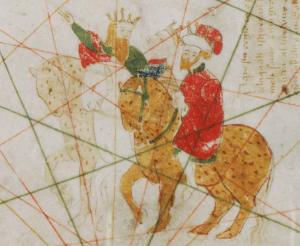 The Three Kings from Gabriel Vallseca's 1439 Map