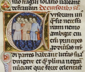 "The institution of a group of runners for the king of Mallorca from the ""Leges Palatinae"" - a book of laws issued in 1337 to help run the court of Jaume III of Mallorca (available online from the University of Trier)."